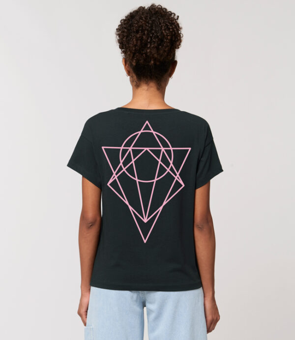 t shirt femme logo karbone